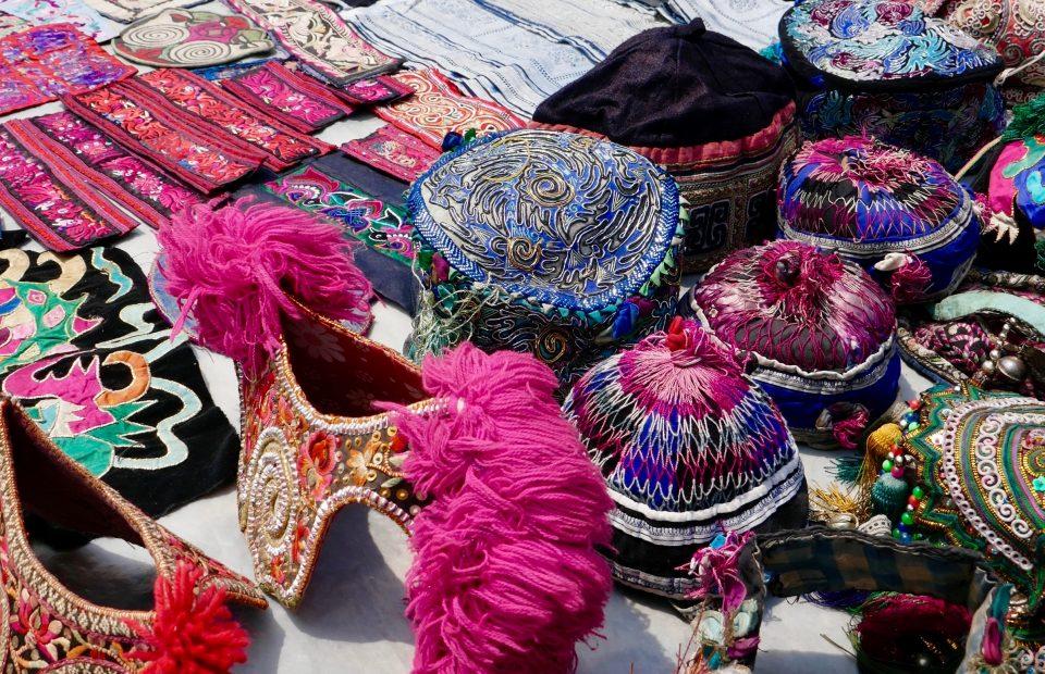 Vintage Fabric Market. Kaili, China.