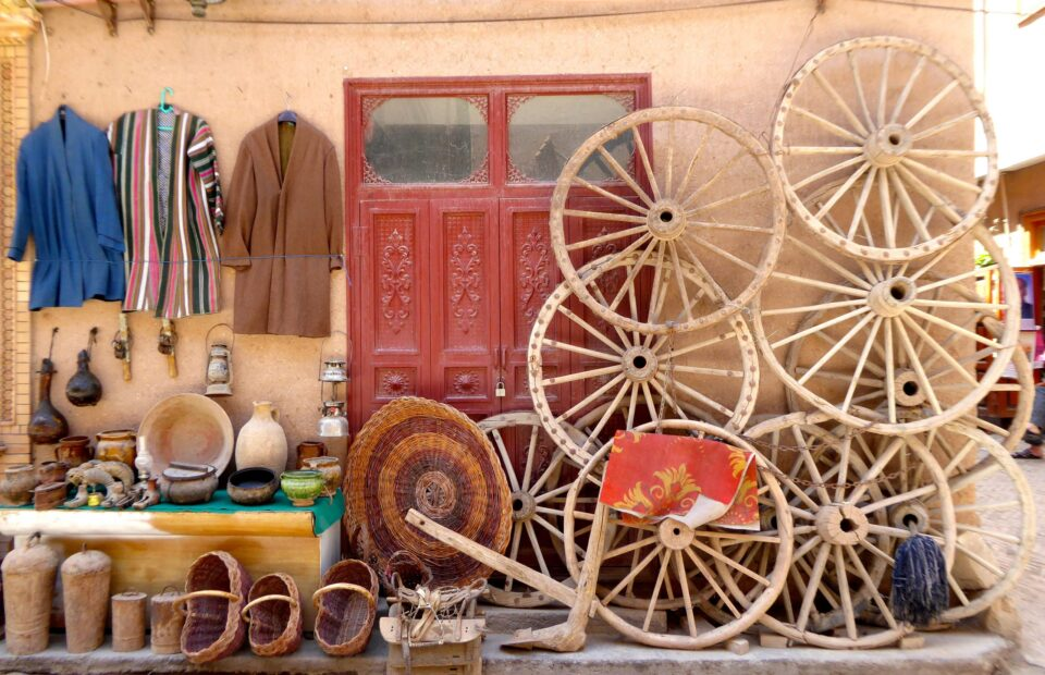 Street sales in Kashgar, North West China.
